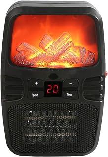 Minicalefactor de escritorio Nulala, con efecto de llama, calefactor portátil de 1000 W, con temperatura ajustable para el hogar, la oficina o el dormitorio