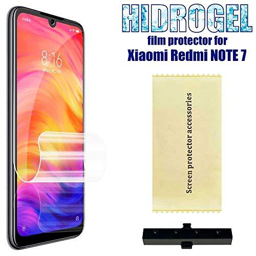 OcioDual Protector de Pantalla TPU Hidrogel para Xiaomi Redmi Note 7/Pro Flexible Membrana Lámina Protectora Cubierta Protectora