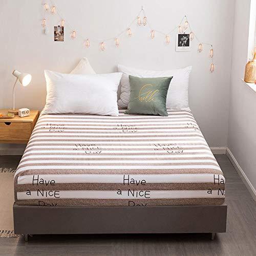CYYyang Protector de colchón de bambú Funda de colchón y Ajustable Sábana de Cama Individual Impresa en algodón-6_120 * 200cm