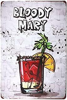 dingleiever-Christmas Decoration Bloody Mary Metal Tin Sign Retro Cafe Restaurant Bar Pub Wall Poster