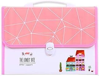 Expanding File Folder Portable Buckle Organ Bag 13 Compartment Folder Storage Bag Suitable for School Office Business Plas...