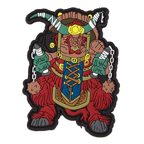 Mr. Tong Chinese Zodiac Sign PVC Patch - Buffalo Büffel Tierkreiszeichen Klett-AUFNÄHER