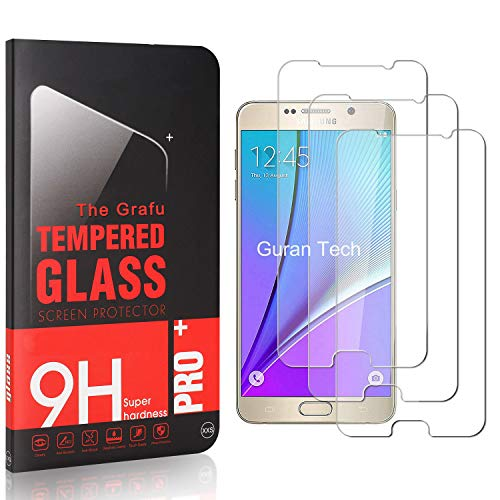 Buy The Grafu Screen Protector for Galaxy Note 5, Ultra Clear, 9H Tempered Glass Screen Protector Compatible with Samsung Galaxy Note 5, Easy Installation, 3 Pack