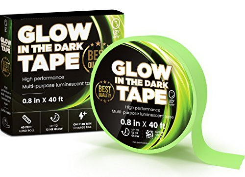 SAY HO UM Glow in Dark Professional Luminescent Duck Tape for Theater Stage, Steps, Stairs   40 feet Roll   12 Hour High Performance Green Glow   Waterproof, Adhesive, Removable Tape Stickers