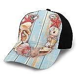 Gorra de béisbol estructurada, subacuática, diseño costero de vida silvestre de U alfabeto palabras idioma, sombrero de papá para hombres y mujeres, perfil bajo ajustable