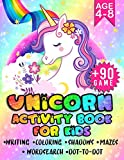 Unicorn Activity Book for Kids age 4-8: A fun exercice book for kids