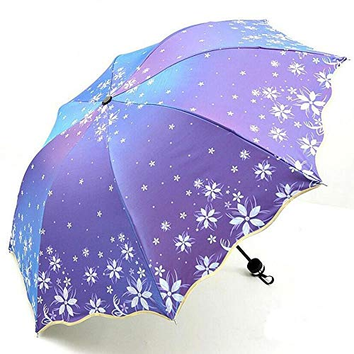 YUYILIN Umbrella Windproof Schwarz Umbrella Stand The Umbrella academyBlumen Umbrella Shift Farbwechsel High End Sonderfarben