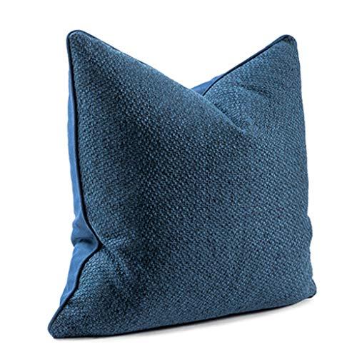 LLKK Almohada,cojín de sofá,Almohada Sala de Estar Estilo nórdico Color sólido algodón y Lino Funda de Almohada Moderna Minimalista Oficina Rectangular Almohada de Cintura