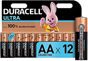 Duracell LR06 MX1500 Ultra AA con Powercheck, Batterie Stilo Alcaline, confenzione da 12 pacco del produttore, 1.5 volt