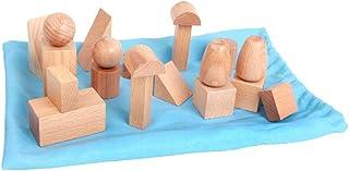 Mini Geometric Shapes Mystery Bag,Montessori Children sensory International version teaching aids,Wooden Geometric Solids