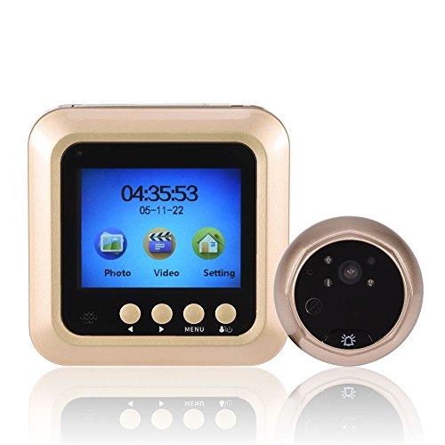 Visor de mirilla de alta definición de 160 °, Visor de mirilla LCD TFT de 2,4'Visor de puerta de visión nocturna de alta definición de 160 °