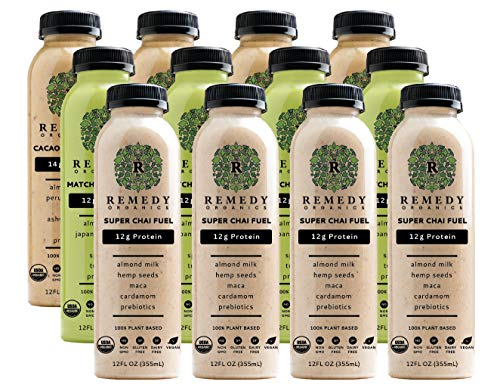 Remedy Organics Protein Variety 12-Pack | Plant Based Protein Shakes, Ready to Drink | USDA Organic, Gluten Free, Dairy Free, Soy Free