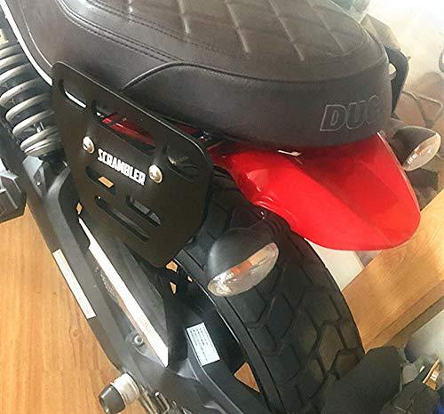 ZMDA Nuovo arrivo 1 PC Borse da sella per moto Staffe di montaggio Staffa laterale Bracket Nero per DU.CA.TI Scrambler Durevole e pratico (Color : Left)