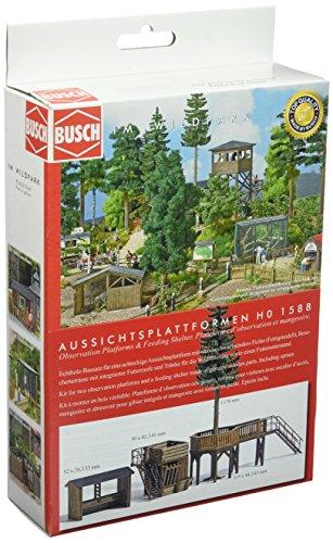 Busch 1588 – Plateformes d'observation et abri pour Nourriture, véhicule.