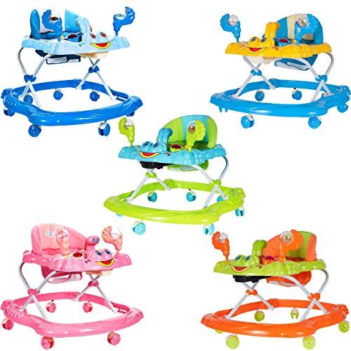 MalPlay Baby Lauflernhilfe mit abnehmbarem Spielzeug  Lauflernhilfe Gehhilfe Musik und Spielzeugen   Lauflernwagen für Babys ab 6 Monaten