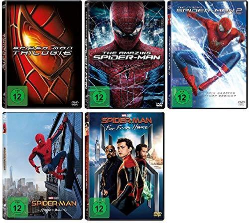 Spider-Man 1-3 + The Amazing Spider-Man 1+2 + Spider-Man Homecoming + Spider-Man Far From Home [DVD Set]