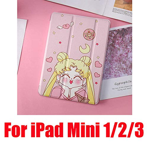 SMZNXF Tablet PC case,Cute Cases For iPad 2 3 4 Mini 1 2 3 4 5 Air 1 2 10.5 Pro 9.7 10.5 New Soft Leather Filp Tablet PC Cover,Acting Cute Mini 123