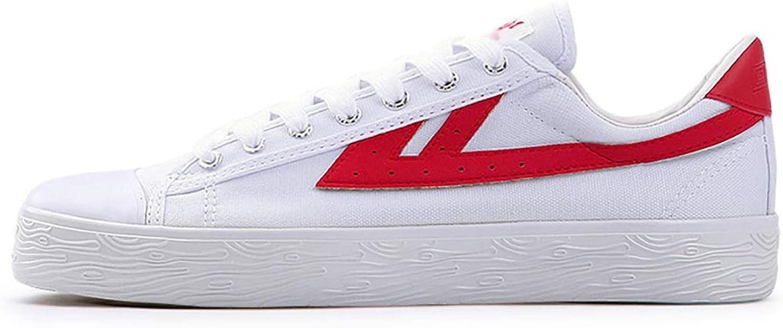GAIQIN Casual shoes Men's shoes Canvas shoes White shoes Men's shoes Summer Breathable Wild (color   A, Size   40)