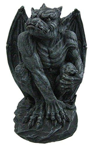 Poised Protector Winged Gargoyle Statue Guardian