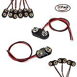 FUJIE 20 Pezzi Connettori per Batterie 9V I e T Tipo Connettore Clip per Batteria con Cavi...