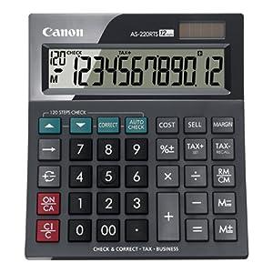 Calculadora sobremesa Canon AS-220RTS Negra