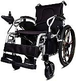 Silla de ruedas eléctrica Función ligera dual simple plegable de potencia for el sillón de ruedas mayor (Liion batería), la impulsión con energía eléctrica o el uso como simple manual de la silla de r