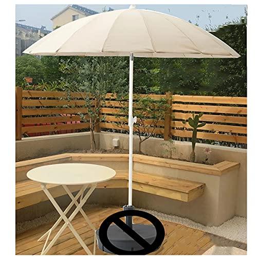 Sombrilla De Exterior Blanca con Inclinación, Parasol De Jardín, Cafetería Terraza Fiesta Boda, 2m