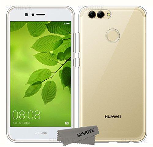 Sunrive Für Huawei nova 2 Plus Hülle Silikon, Transparent Handyhülle Schutzhülle Etui Hülle Backcover für Huawei nova 2 Plus(TPU Kein Bild)+Gratis Universal Eingabestift