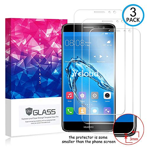 Ycloud [3 Pack] Protector de Pantalla para Huawei Nova Plus (5.5Pulgada),[9H Dureza/0.3mm],[Alta Definicion] Cristal Vidrio Templado Protector para Huawei Nova Plus (5.5Pulgada)