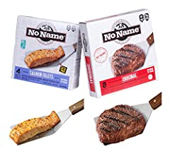 THE ORIGINAL NO NAME STEAKS- Since 1970, NO NAME STEAKS carry a legacy of premier flavor and tenderness that helped build our reputation as one of Minnesota's most trusted brands. This surf and turf 8-Pack of Steaks and 4-Pack of Salmon are hand cut ...