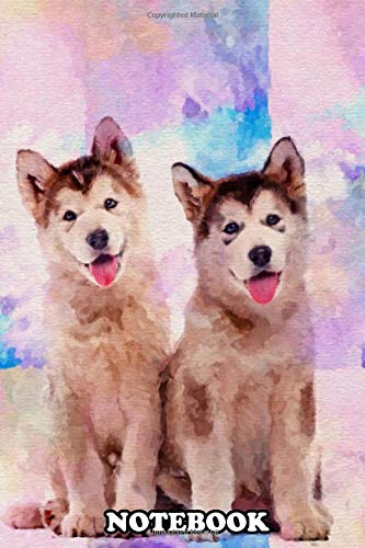 Notebook: Alaskan Malamute , Journal for Writing, College Ruled Size 6