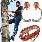 YANSQH Equipo Trepar Árboles, Electricista Hebilla del Pie Crampones para Trepar, para El Trabajo del árbol,500Model