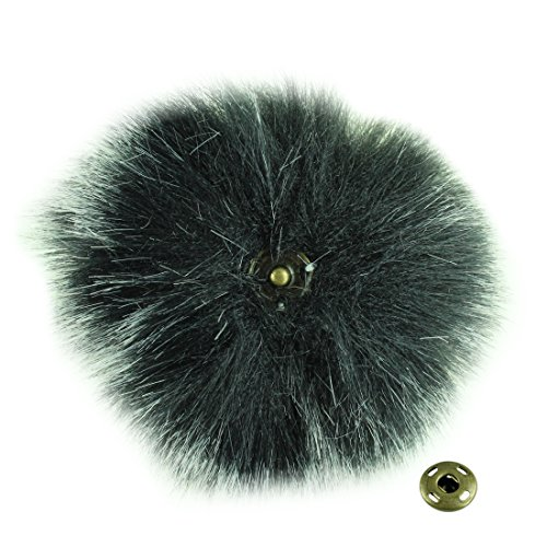 JINSEY 12pcs Faux Fake Fox Fur Fluffy Pom Pom Balls with Snap for Knitting Pompom Hat Hats Keychains Purse Charms Craft Making Supply