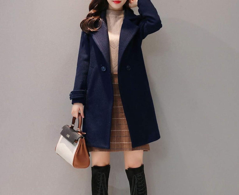 Coat Jacket, Woolen Coat, Woolen Coat, Female Long Section Autumn and Winter Fashion Plus Cotton Thickening Woolen Winter Woolen Coat PLLP