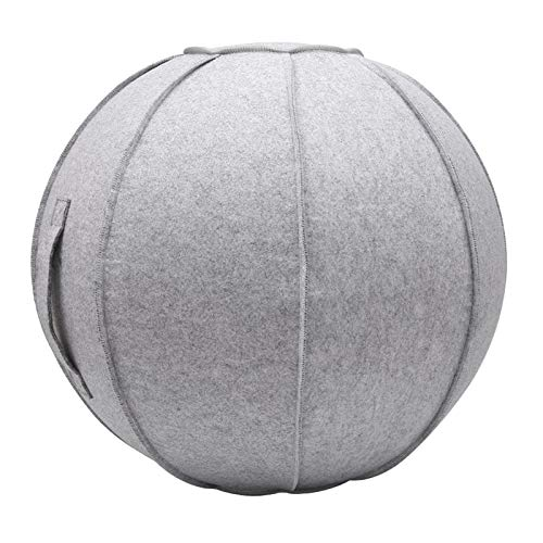 SunniMix 26 Pouces Feutre Boule de Yoga Couverture Anti-Slip D'accouchement Ballons d'exercice...