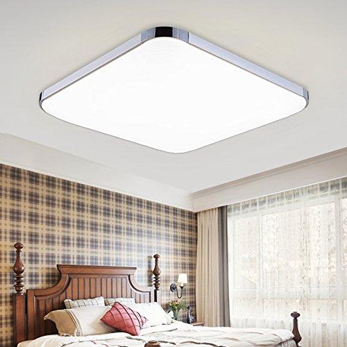 Hengda® LED 36W 48W–Lámpara de Techo bajo Consumo Modern Lámpara de Techo Comedor Salón Cuarto de baño Iluminación de Techo, Weiß 36.00 wattsW
