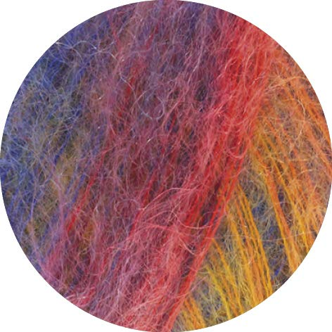 Lana Grossa Silkhair Haze Print 1202 - Gelb/Orange/Lachs/Blau