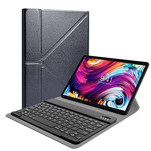 PRITOM Bluetooth Funktastatur geeignet für 9-11 Zoll Tablet Computer, Funktastatur mit Schutzhülle kompatibel für iPad/Android/Windows Tablets (schwarz)