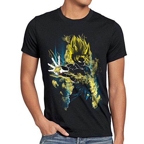 CottonCloud Power of Goku T-Shirt Homme God Z Vegeta Roshi Ball, Taille:S, Couleur:Noir