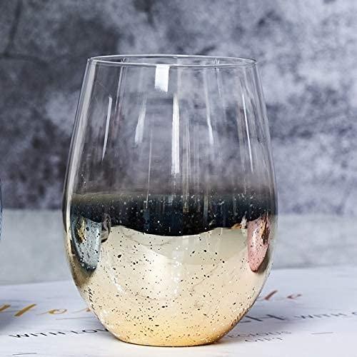 TFJJSQA Especial/Simple 500 ml instantáneo de Cristal Copa de Cristal Botella de Agua del hogar Taza de Leche Jugo de Leche café Bebida Bebida Taza (Color : Starry Gold, Size : 401500ml)