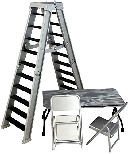 Wrestling Ultimate Ladder & Table Playset (Silver) - Ringside Collectibles Exclusive WWE Toy Action Figure Accessory Pack