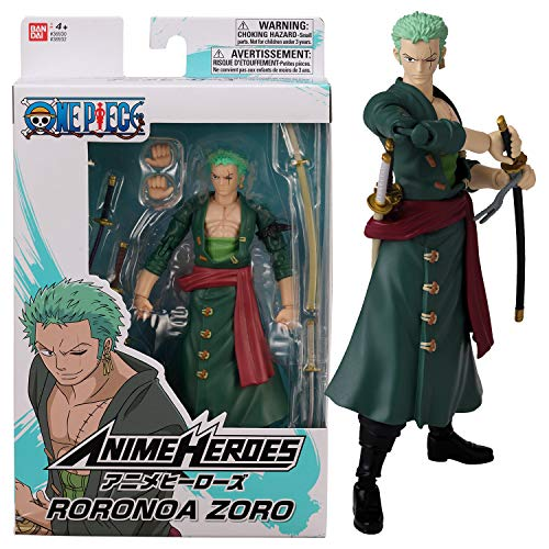 Bandai – Anime Heroes – One Piece – Figura de Anime Heroes 17 cm – Roronoa Zoro – 36932