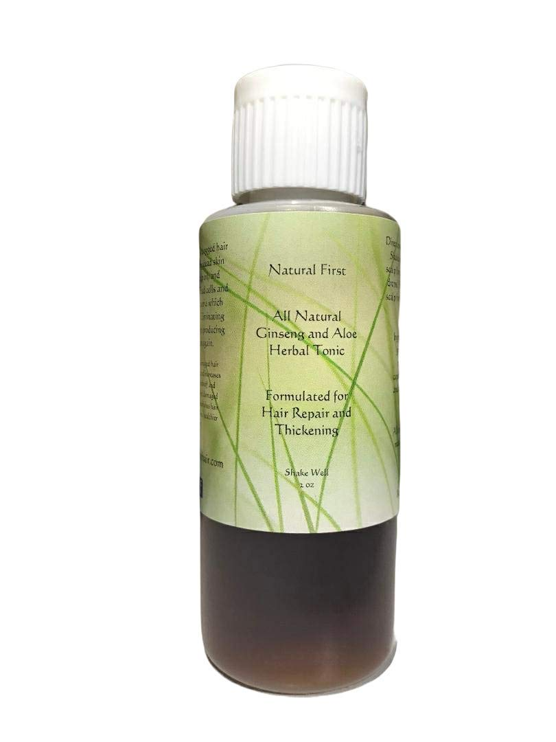 Natural First Ginseng and Aloe Vera Hair Growth Thickening and R