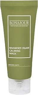 [BONAJOUR] Organic Mugwort & Green Tea Calming Gentle Clay Mask - Nourishing & Deep Moisturizing & Soothing 1.9 Fl. Oz