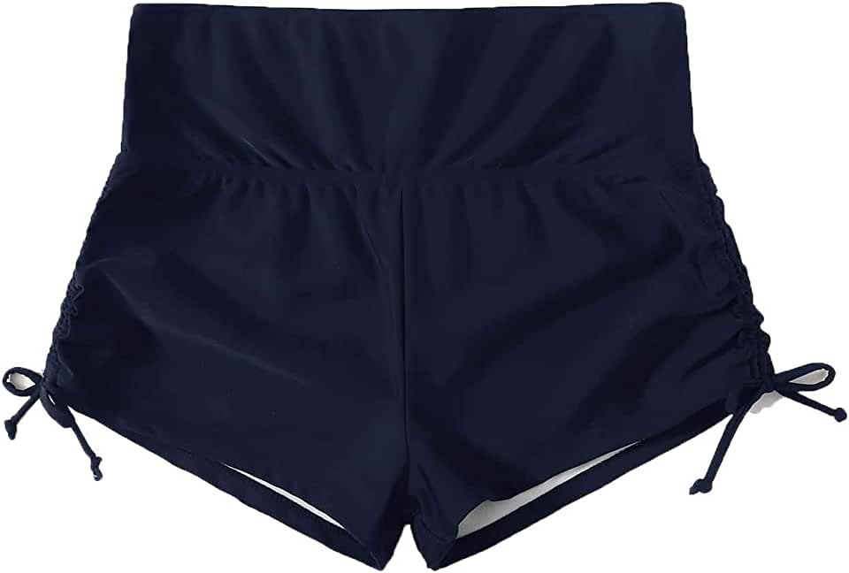 Milumia Women Plus Size Casual Ruched Tie Side Bikini Buttom Underwear Shorts