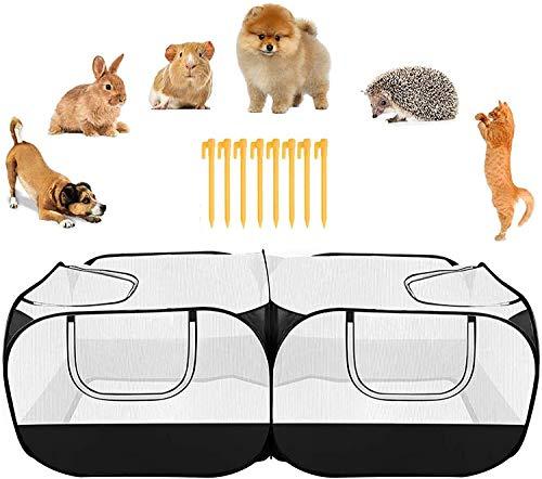 Pollo Gallinero Para Gallinas Pantera De Mascotas Al Aire Libre Pantalla Portátil Portátil Cerca De Mascotas Con Fondo Desmontable Transparente Transparente Malla Transparente Jardín Patio Trasero Cas