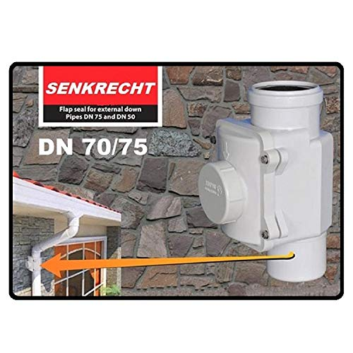 SENKRECHT Rückstauverschluss Ø DN75 nur für senkrechte Montage. Rückstauklappe, Rückstausperre, Rückstausicherung Abwasserrohr, Kanalrohr, Kanal, Rückflusssperre Rattenstop Rattenschutz, vertikal