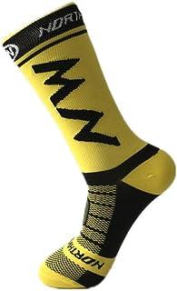 WZDSNDQDY Calcetines de Tubo para Hombre 4 Pares Transpirables desodorantes y ponibles Calcetines de Baloncesto Material de Nylon patrón de Letras Coloridas