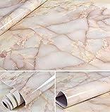WDragon Emperor Jade Efecto mármol Efecto Granito mármol película Pegatinas de Pared Papel Tapiz encimeras, acrílico, 24in X 79in