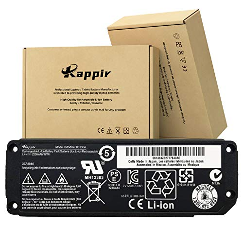 BOWEIRUI 061384 (7.4V 2230mAh 17Wh) Speaker Battery Replacement for Bose Soundlink Mini Bluetooth Wireless Speaker for 061386 063404 063287 061385 Series